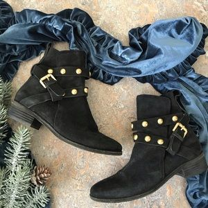 See by Chloe Janis Black Suede Ankle Boots Shoes